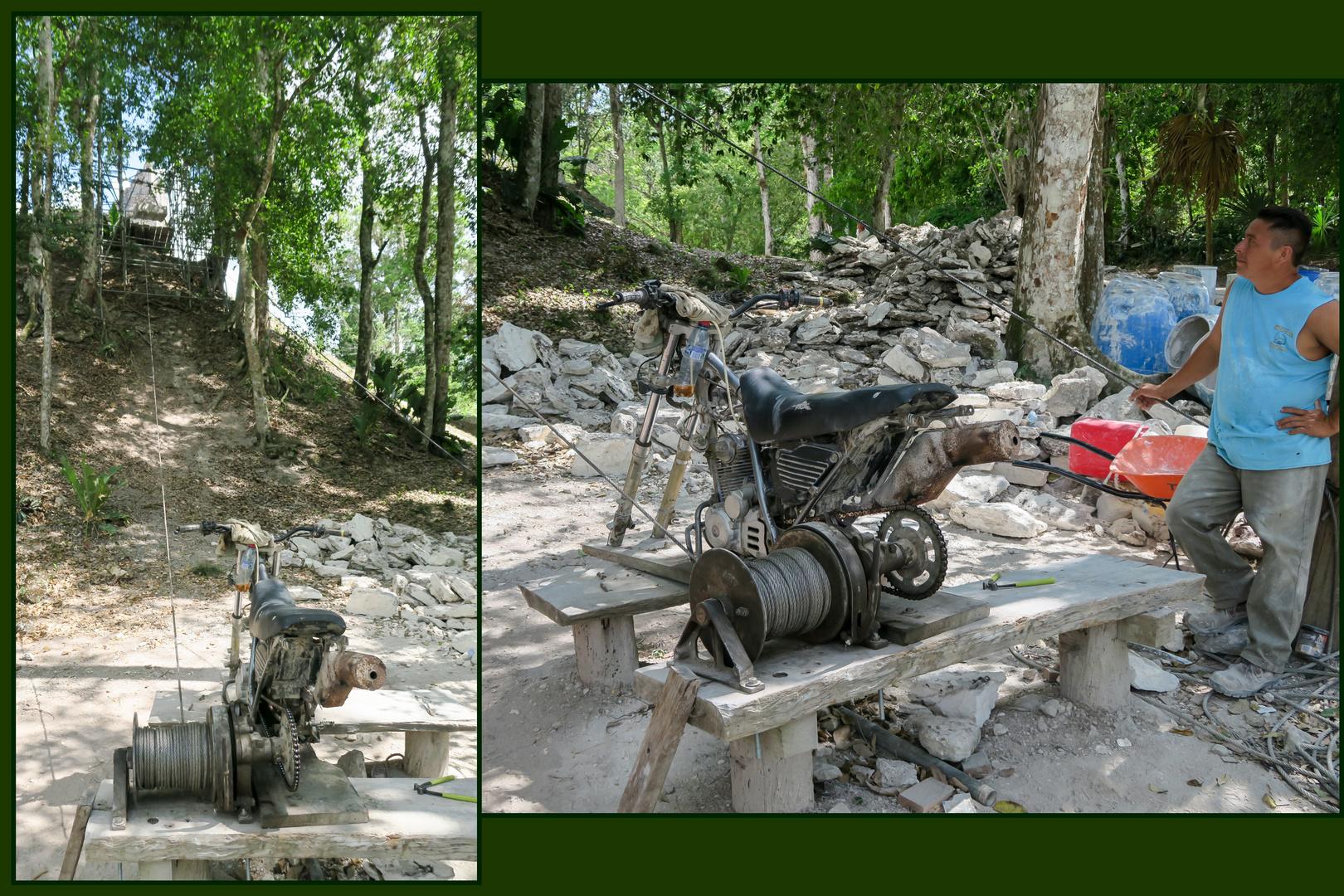 Moped-Lastenwinde