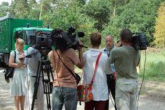 Mordfall Gaucke - improvisierte Pressekonferenz