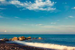 Morgen an der toskanischen Küste