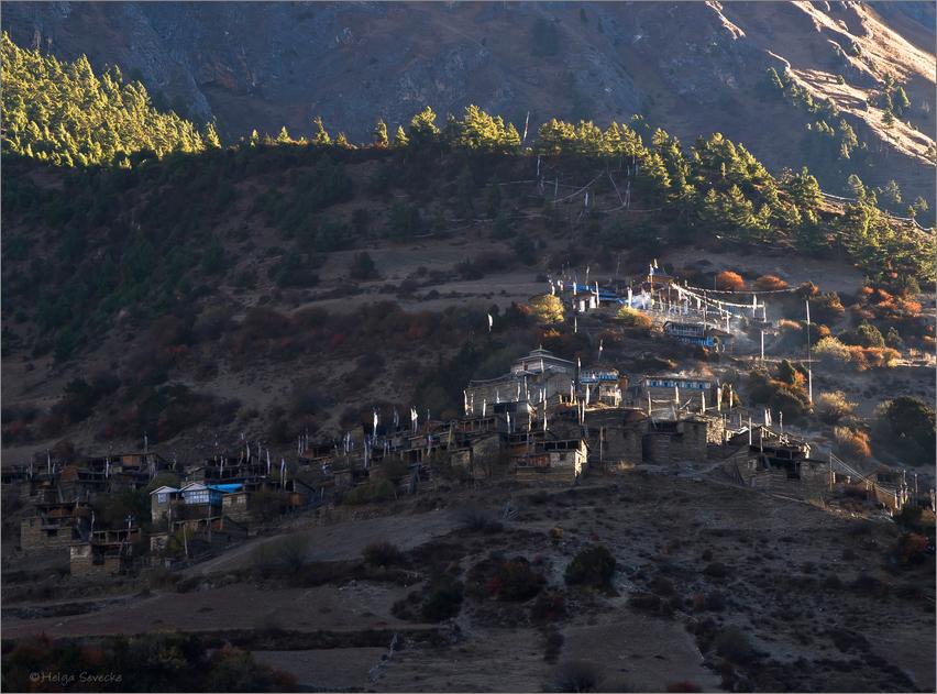 Morgen in Upper Pisang/Nepal