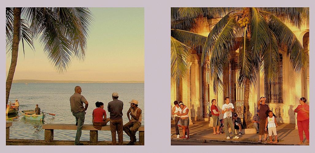 Morgen- und Abenddämmerung in Cienfuegos de Cuba