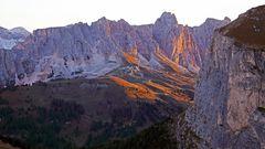 Morgenblick vom Sellajoch in den Dolomiten vom 22.09. 2017...
