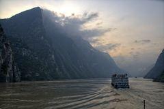 Morgendämmerung auf dem Jangtse
