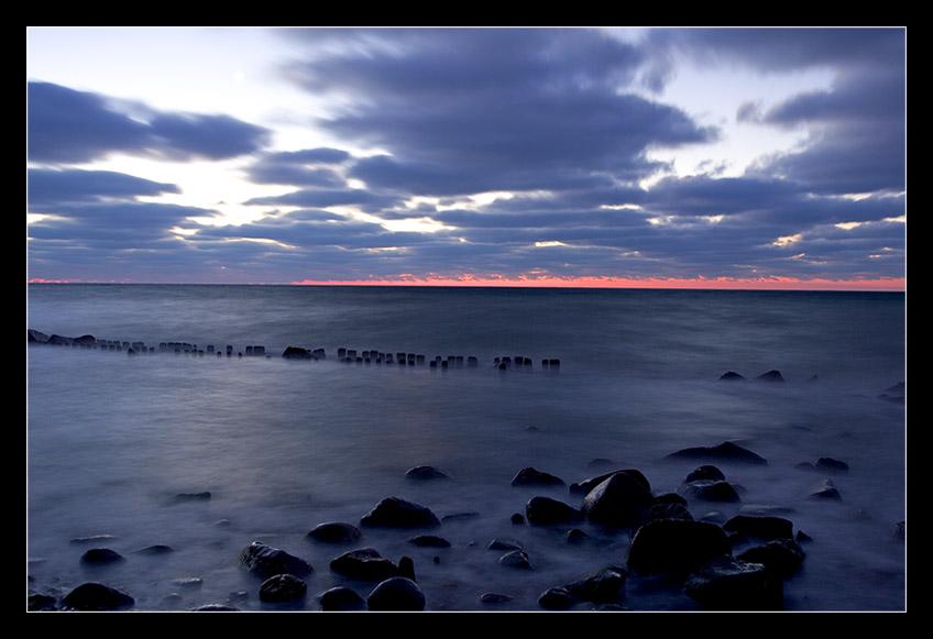 Morgendämmerung vor Rügen