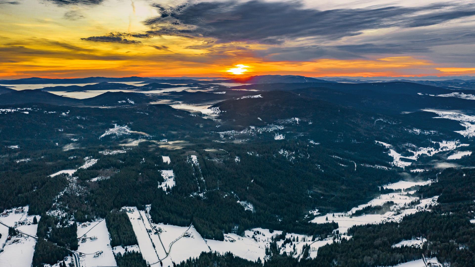 Morgendliche Adventsgrüße aus dem Bayerischen Wald