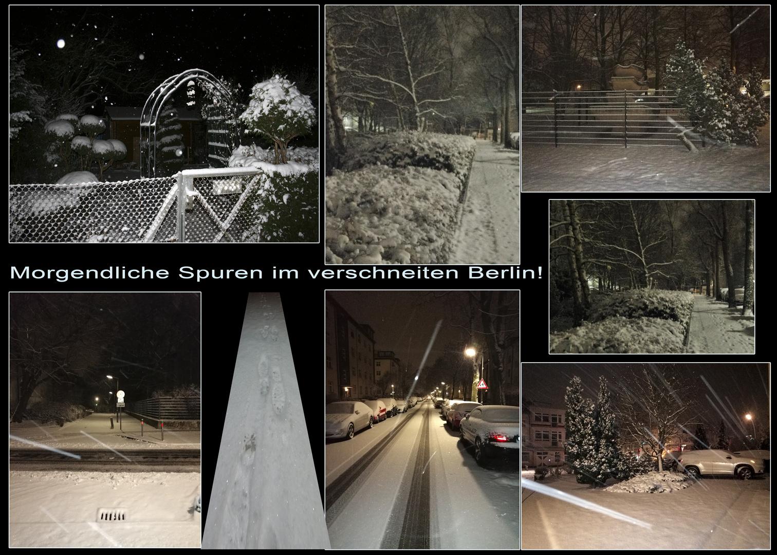 Morgendliche Spuren Berlin