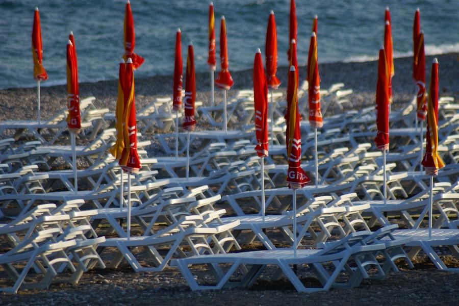 Morgendliche Strandidylle