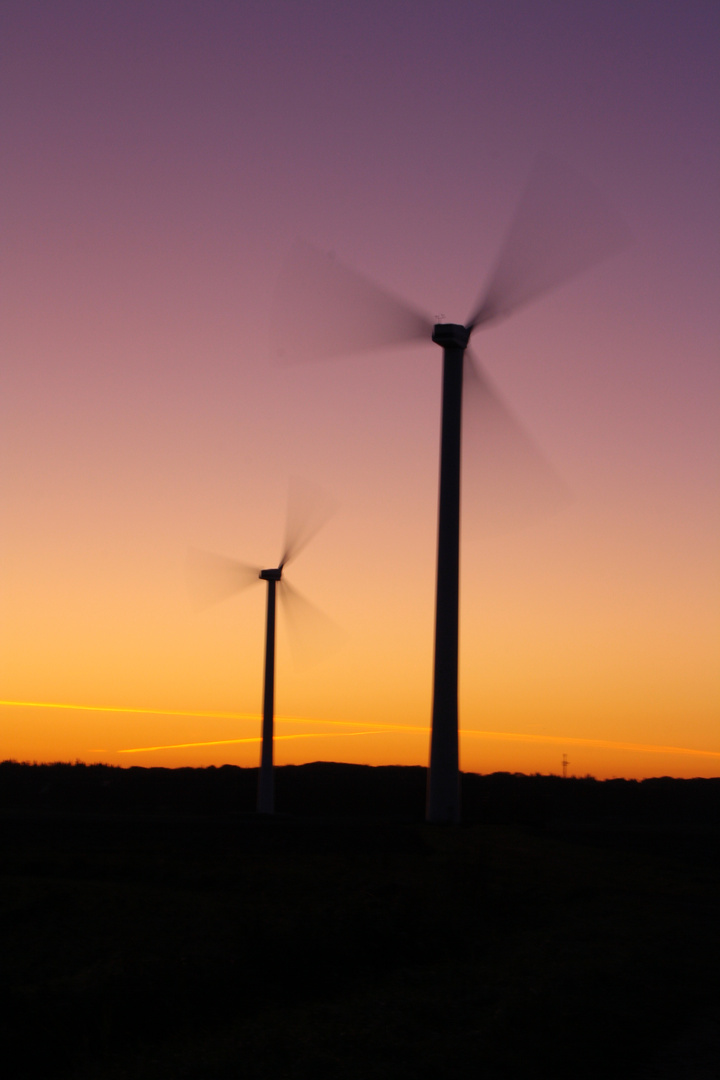 Morgendliche Windtechnik