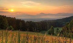 Morgendunst über Salzburg