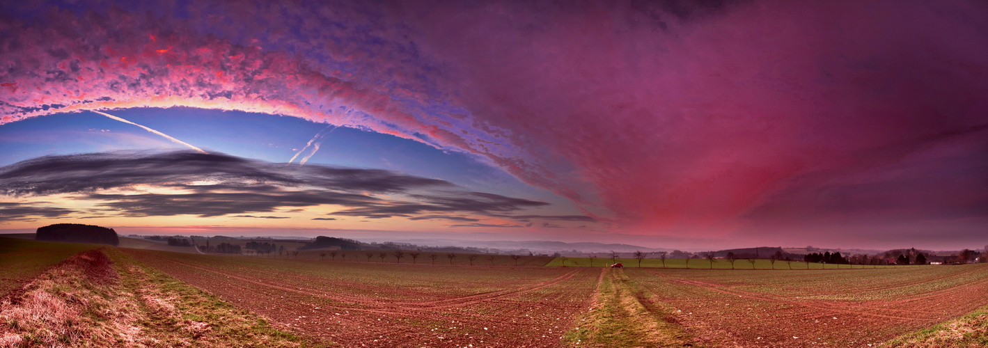 Morgengrauen in Pink