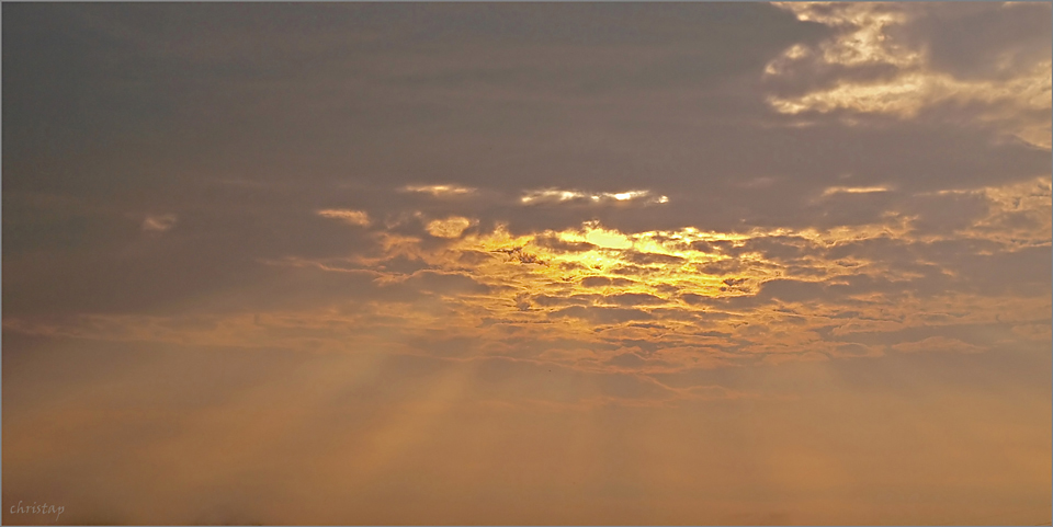 Morgenhimmel ...