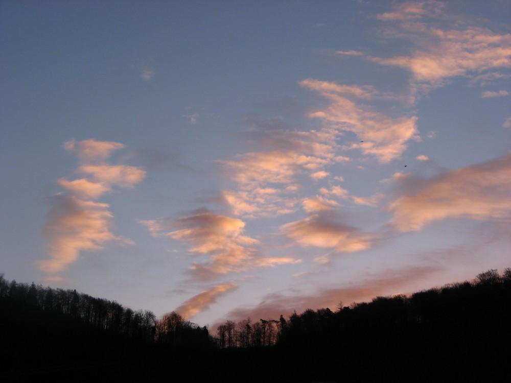 Morgenhimmel im März