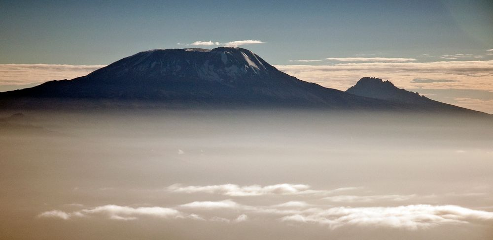 Morgennebel am Kilimanjaro