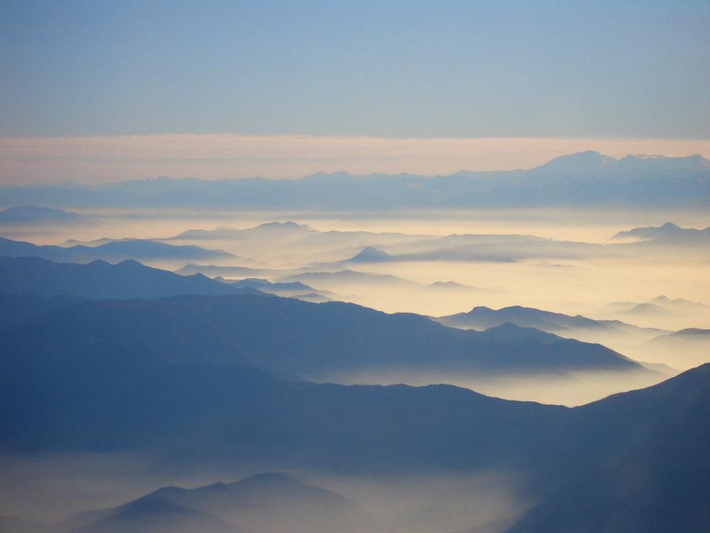 Morgennebel über Chile