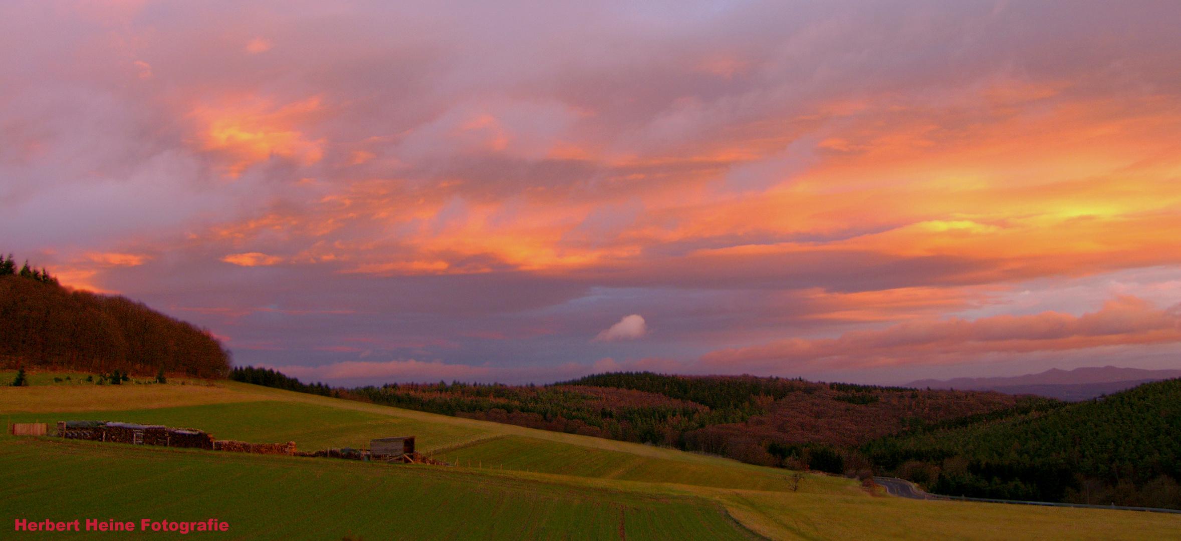 Morgenrot, schlecht Wetter droht......!?
