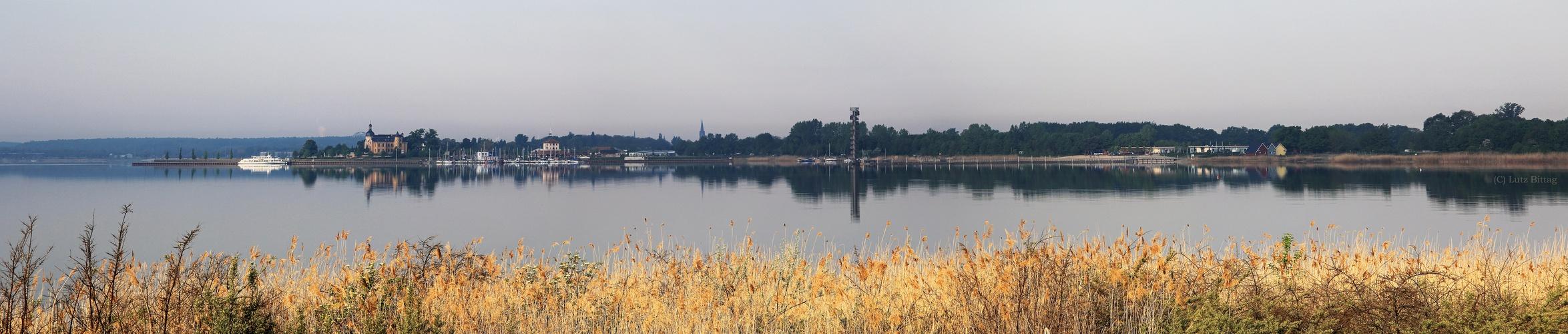 Morgens an der Goitzsche (Panorama zum Ziehen - 2x aufs Foto klicken))