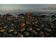 Morgens an der Küste