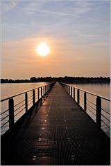 morgens auf der Brücke