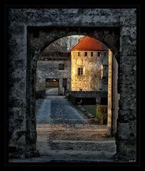 Morgens auf der Burg