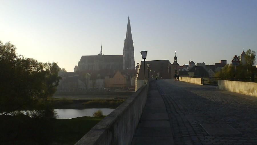 Morgens auf der Steinernen Brücke
