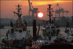 * Morgens im Hafen III *