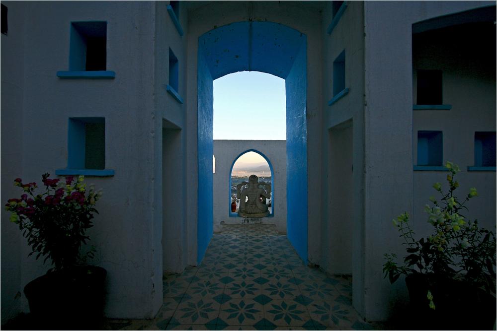 morgens im Nalagarh Palasthotel