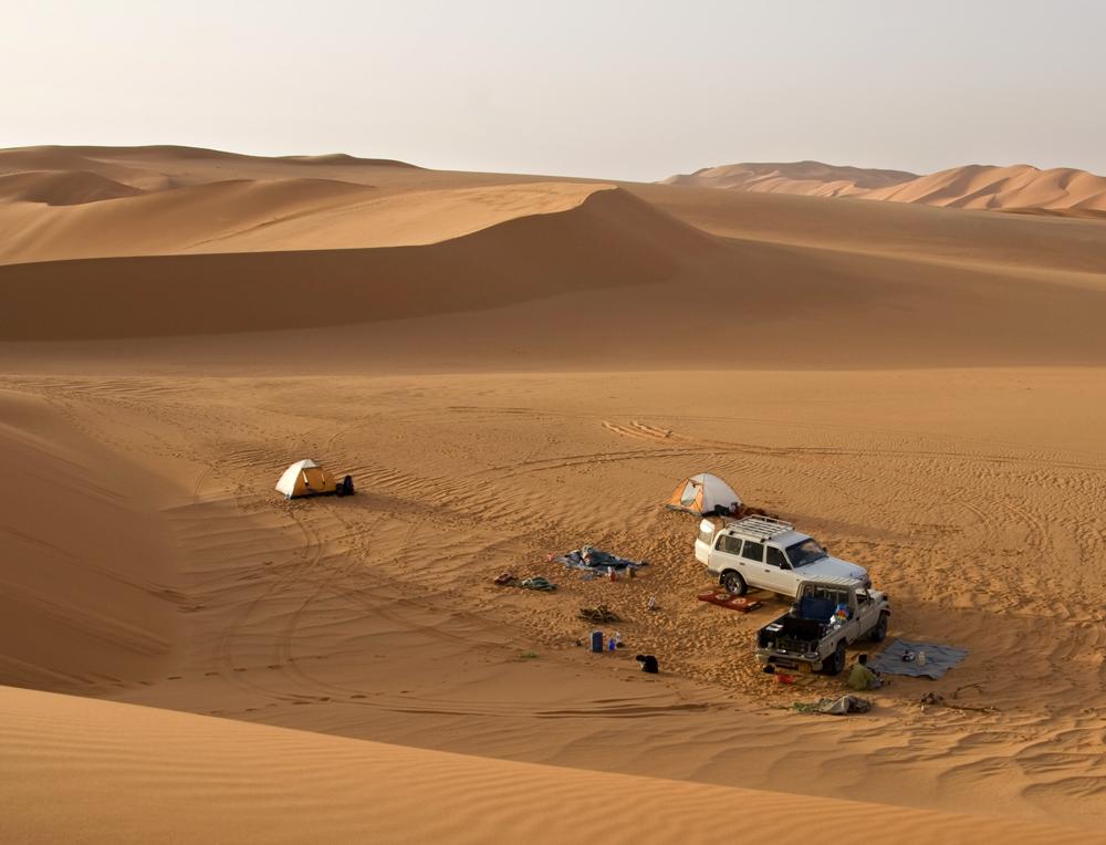 Morgens in der Wüste.