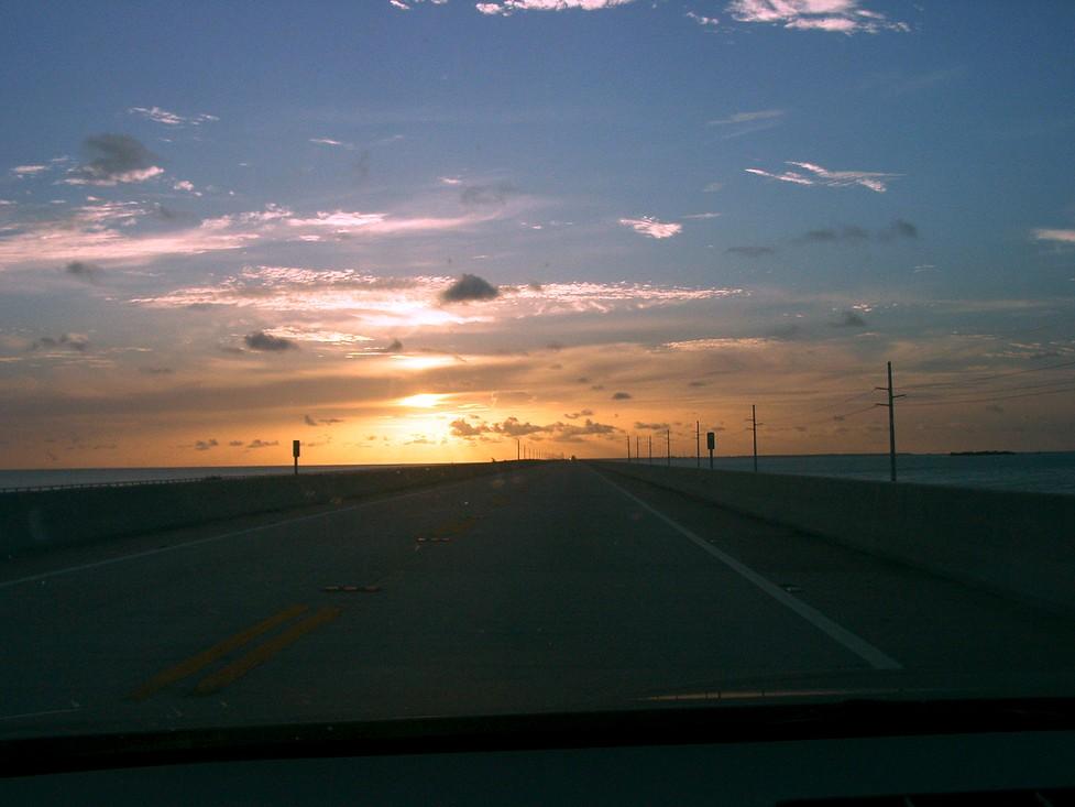 Morgens um 6 Uhr auf der 7-Meilen Brücke...