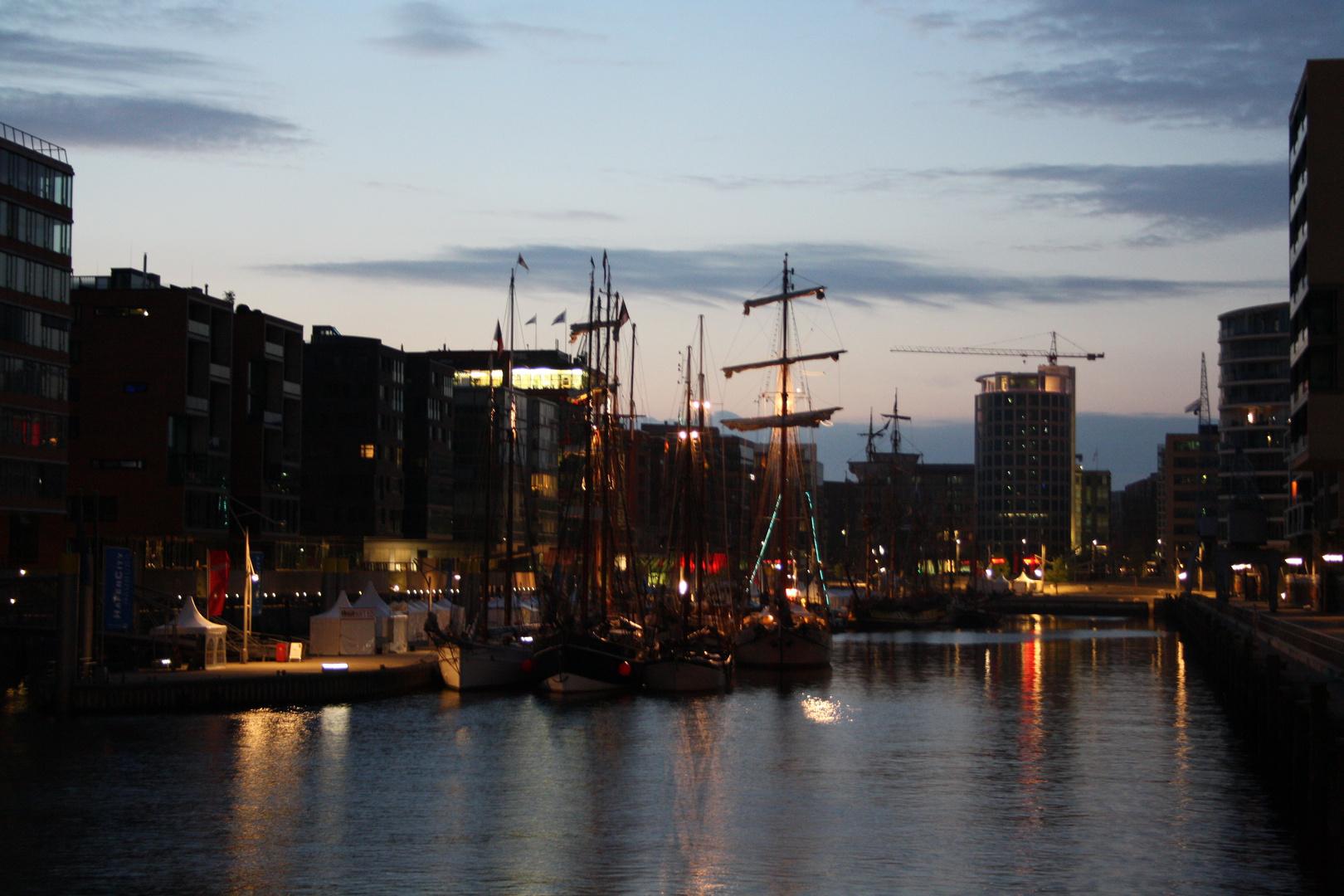 Morgens um halb 5 in Hamburg