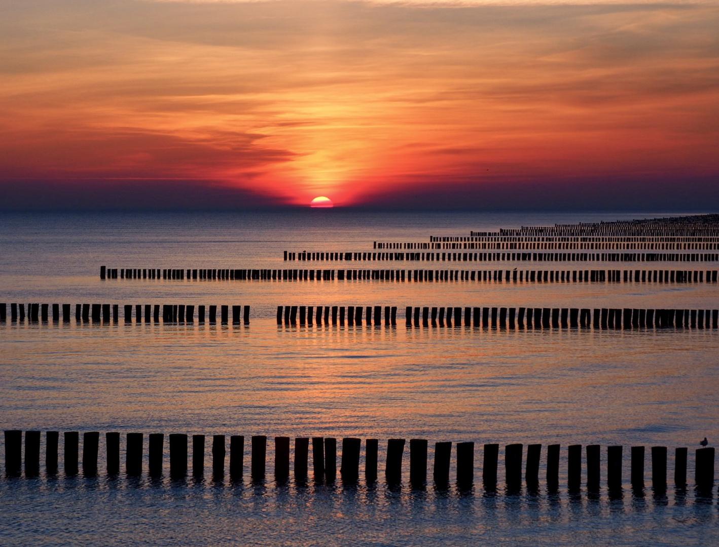 Morgens zum Sonnenaufgang