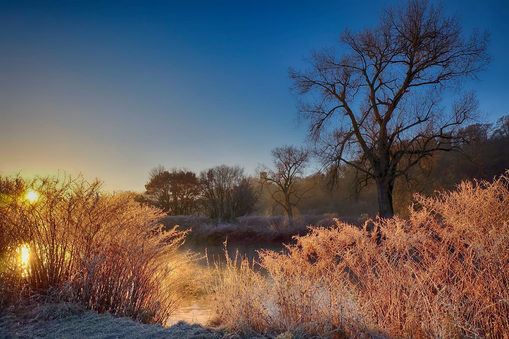 Morgensonne im Dezember