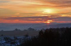 Morgensonne im Osterzgebirge