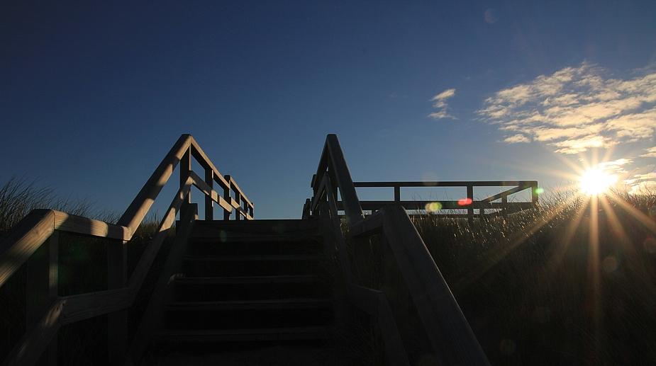 Morgensonne über den Dünen