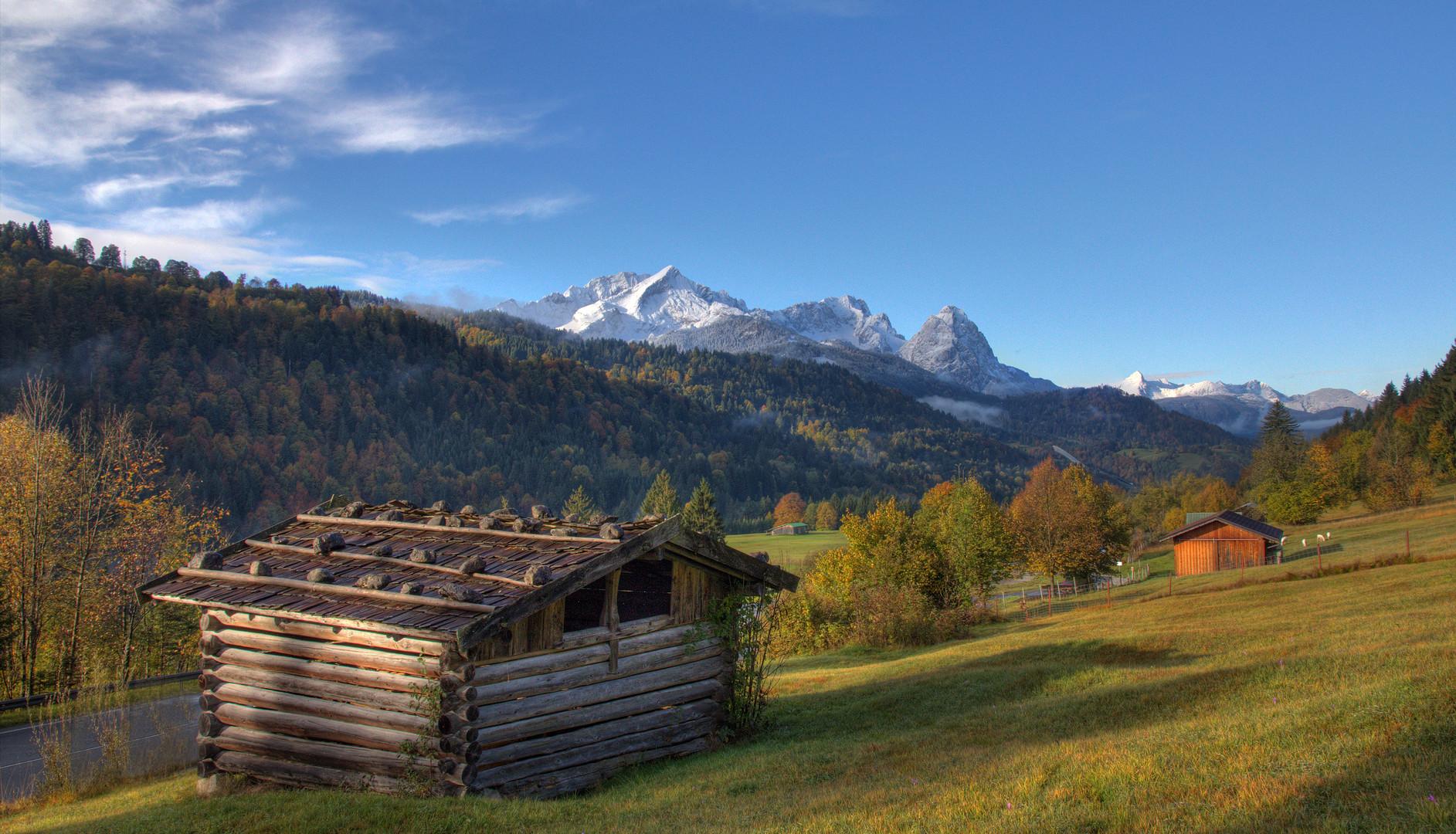 Morgensonne über der Alpspitze