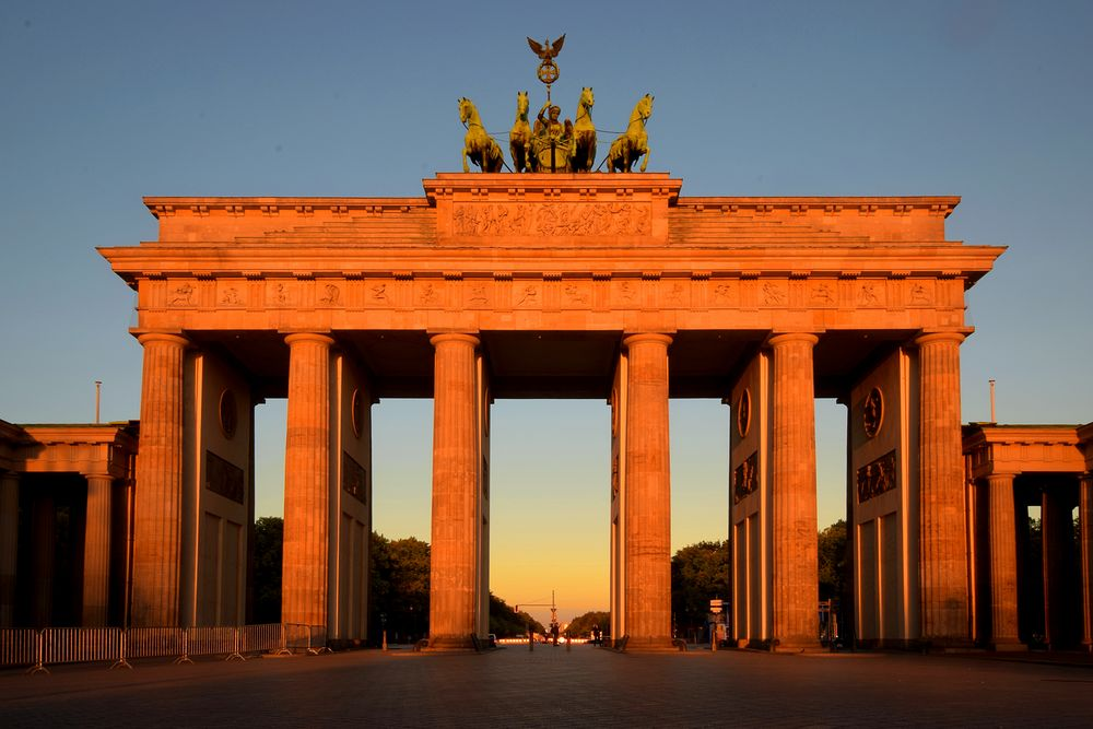 Morgenstimmung am Brandenburger Tor