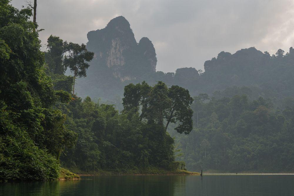 Morgenstimmung am Cheow Lan Lake