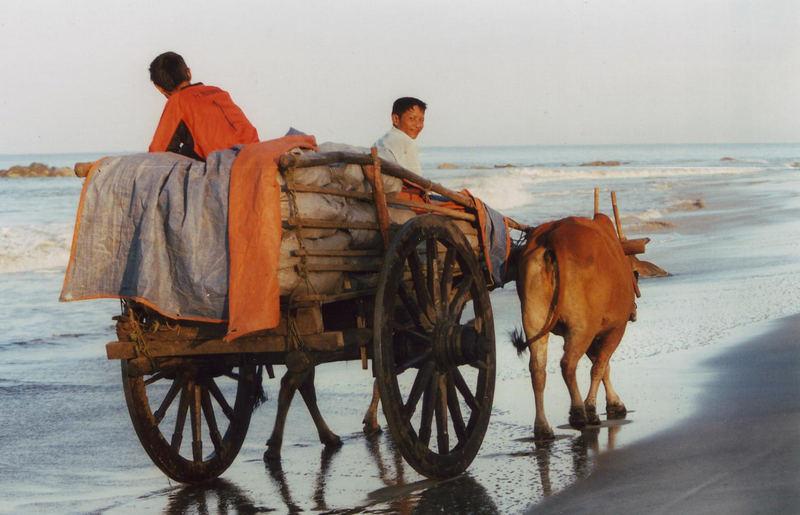 Morgenstimmung am Strand von Myanmar