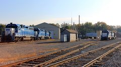 Morgenstimmung auf dem Yard der Appalachian Railway, Buckhannon, WV, USA