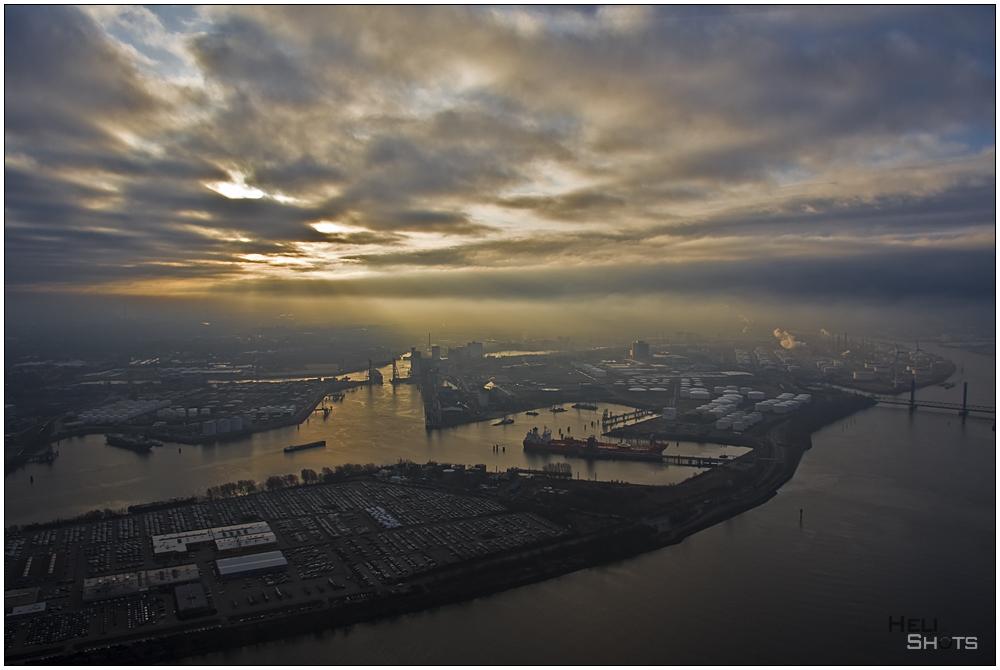 Morgenstimmung im Hamburger Hafen