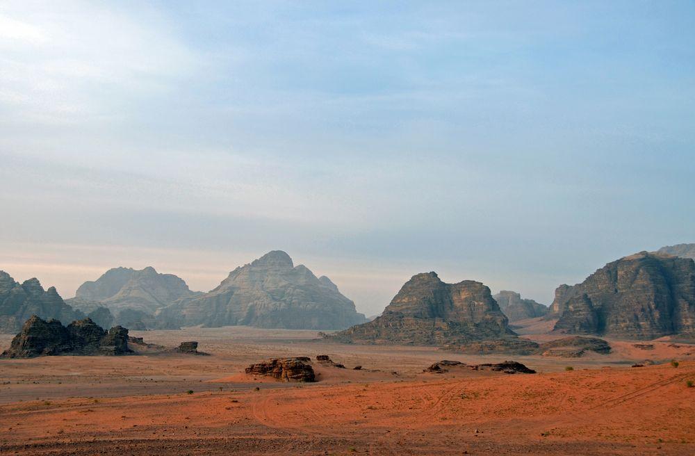 Morgenstimmung im Wadi Rum