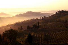 Morgenstimmung in der Toscana