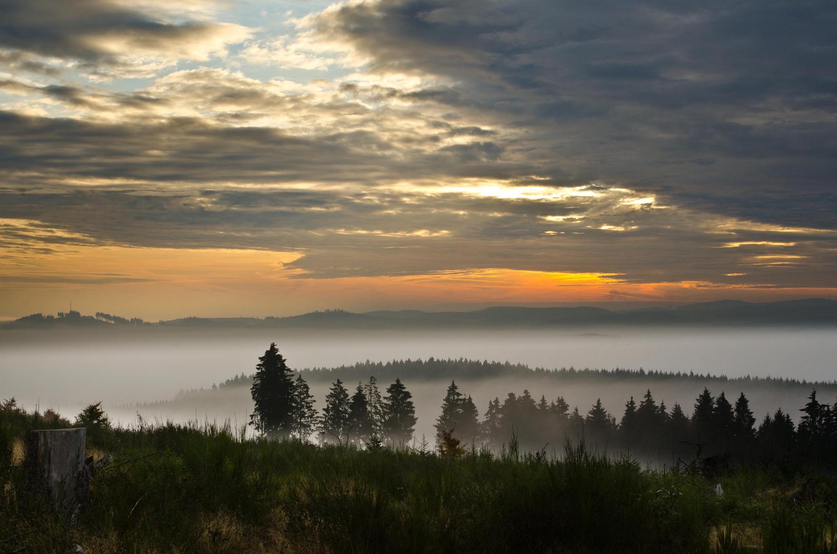 Morgenstimmung - Nebel, Licht und Wolken