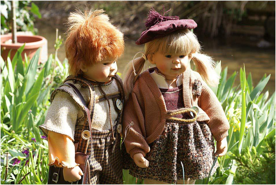 Moritz und Lena beim Ausflug