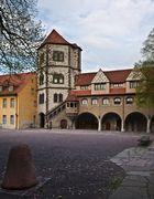 Moritzburg, Burghof-Ostseite