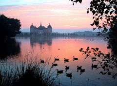 Moritzburg im Morgenrot