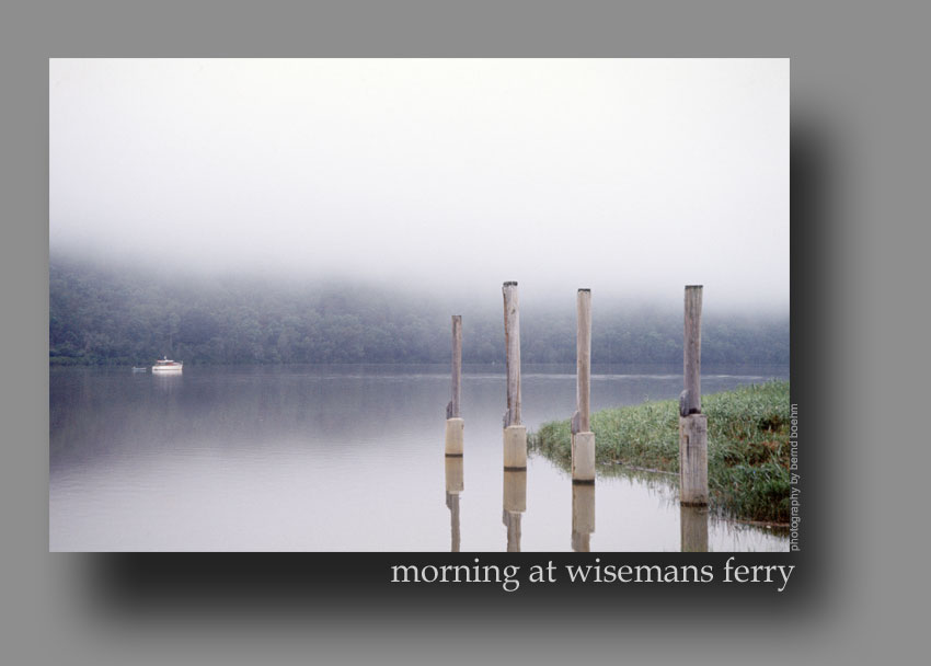 morning at wisemans ferry
