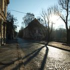 Morning in old town. Lviv.