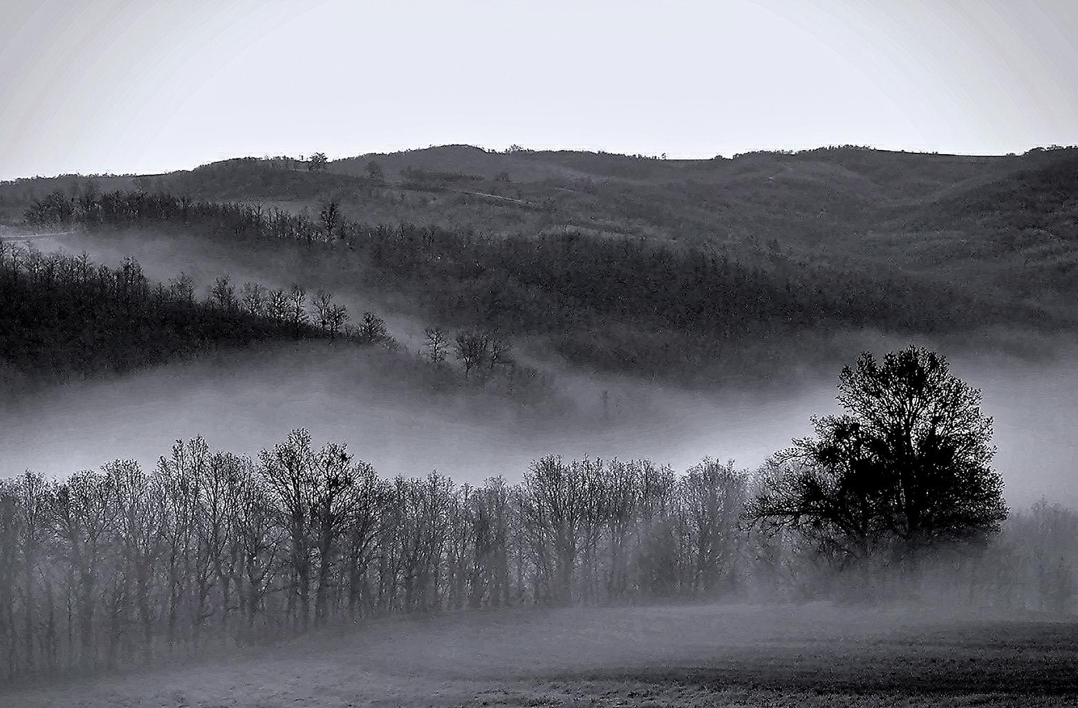 Morning mist, Greece...