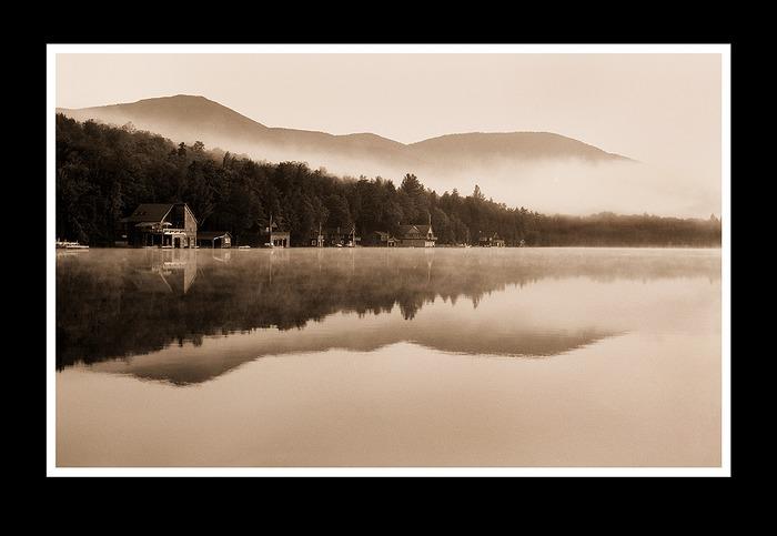 Morning Mist on the Lake
