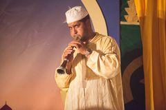 Moroccan rhaita player